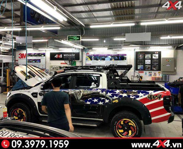 khung thanh the thao 4wd xe bán tải Ford Ranger tại garage 4x4.vn